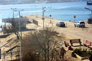 General Zakharov Square. Pier. Webcams von Sewastopol