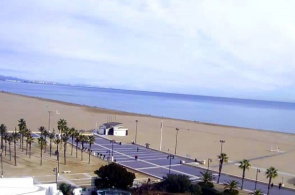 Las Arenas Beach. Valencia Webcam online