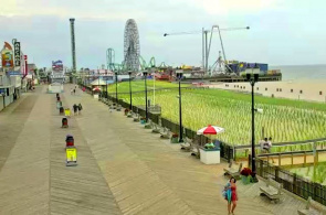 Vergnügungspark Casino Pier. Webcams Seaside Heights online