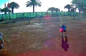 "Tennisplatz. Pension ""Colchis"" Old Gagra Webcam online"