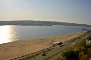 Zaporozhye. Central Beach Webcam online